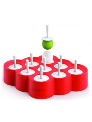 Zoku Icelolly Pop IJsmaker - Voor 9 stuks - Rood