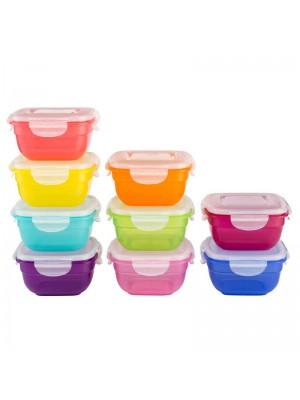 Lock & Lock Vershouddozen Multicolor Mix Set van 9 Stuks