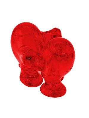 Koziol Step'n Pep peper en zout stel transparant rood