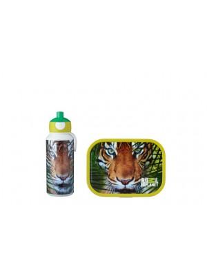 Mepal Lunchset Campus (pop-up drinkfles en lunchbox) - Animal Planet Tijger