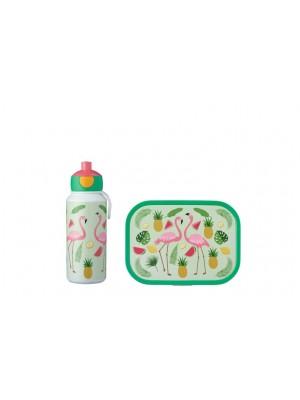 Mepal Lunchset Campus (pop-up drinkfles en lunchbox) - Tropical Flamingo