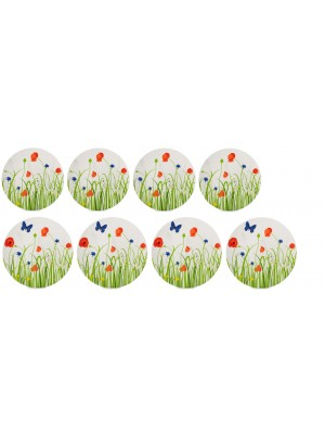 Mepal Plat + ontbijt bord Flow 260 mm en 230 mm set van 4 - Fields Of Flowers